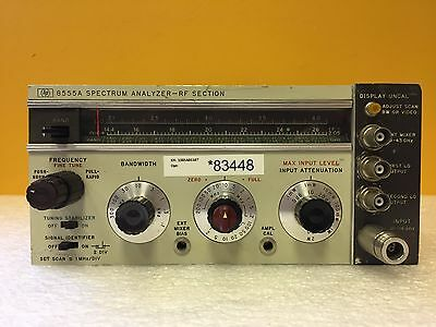 HP 8555A 10 MHz to 18 GHz, For 141T Series, Spectrum Analyzer Plug-In Module