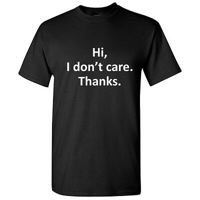 Hi Thank Sarcastic Rude Cool Graphic Gift Idea Adult Humor Funny Novelty T-Shirt