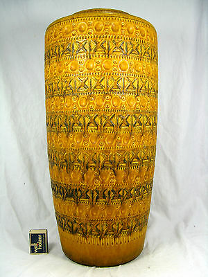 Beautiful 70´s Bodo Mans Design Bay Keramik Boden floor vase Vase 609 - 50 cm