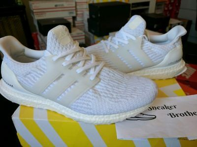 42ca030353cd9 Adidas Ultra Boost M ESM LTD Triple White 3.0 2017 All Out Sole Running  BA8841