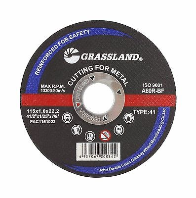 "Steel Freehand Cut-off Wheel Disc - 4-1/2"" x 0.04"" x 7/8"" - T41 - (50 PACK)"