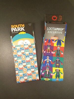 Loot Crate Exclusive Socks - Jay & Silent Bob and South Park 2 pair lot