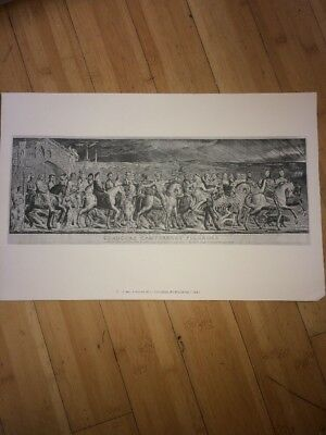 Chaucer's Canterbury Pilgrims 1810 Poster Print by William Blake (20 X 13) Great