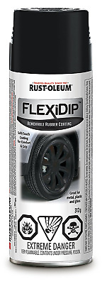 Rust-Oleum SPECIALTY Flexi Dip Removable Rubber Coating 281792, Matte Black, 312