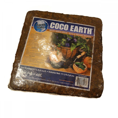 Coco Earth 5kg Coconut Coir Compressed Brick - Great for Container Gardens, Hydr
