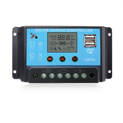 Sunix® 10A 12V/24V Solar Charge Controller Charge Regulator Intelligent , USB Po