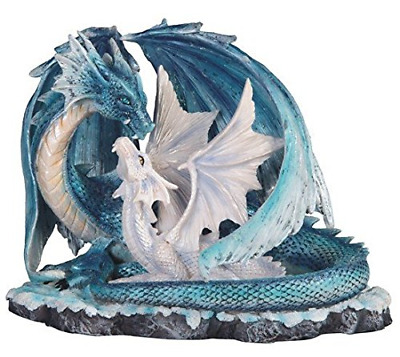 StealStreet SS-G-71533 7-Inch Light Blue Dragon Mom with White Baby Statue Figur