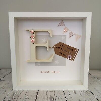 💖Personalised New Baby, Birth, Christening, Boy & Girl Frames Gift/Keepsake