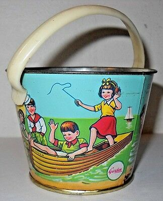 """Small 2 1/2"""" Tin Beach Pail Garden Co., Ltd. Bakers & Confections * Candy Tin Pa"""