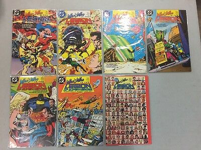 Who's Who In The Legion Of Superheroes Complete Set 1-7 DC Comic Books