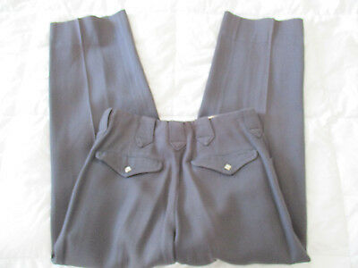 1950's Levis Shorthorn Western Pearl Snap Gab Whipcord Pants 28x 27
