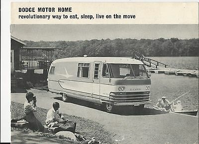 1963 Dodge Motor Home brochure and spec page *