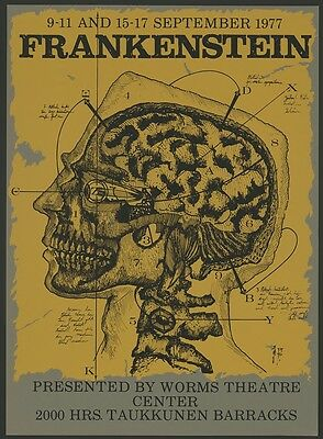 Frankenstein Cutaway Skull by Jim Thorpe Poster Print for Worms Theatre Center