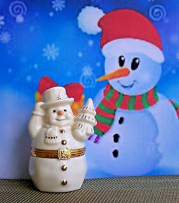 LENOX The Snowman's Surprise Box - First Issue - Comes w/ Snowflake Charm