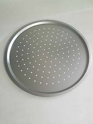 """Perforated Round Pizza Tray 33cm 330mm 13"""" x 6"""