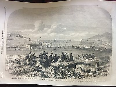 "Antique Print ""laying Of The Atlantic Telegraph Cable Off Shore At Valencia, Spa"