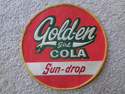 GOLD-EN GIRL COLA SUN-DROP UNIFORM PATCH - Original - Vintage 7 1/4  INCHES SODA