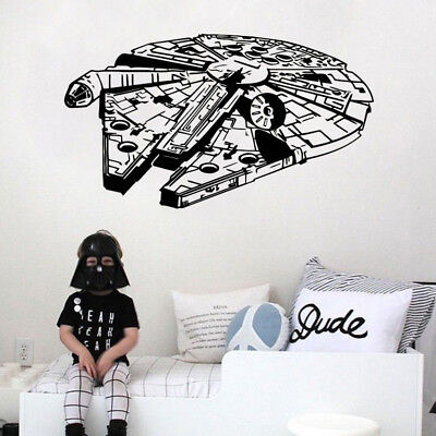 PVC Removable DIY 3D Star Wars Wall Stickers Living Room Wall Decal Mural Decor