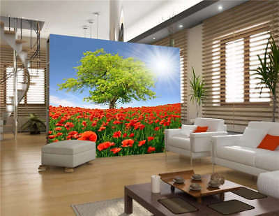 One Tree Flower Farm Full Wall Mural Photo Wallpaper Printing 3D Decor Kid Home