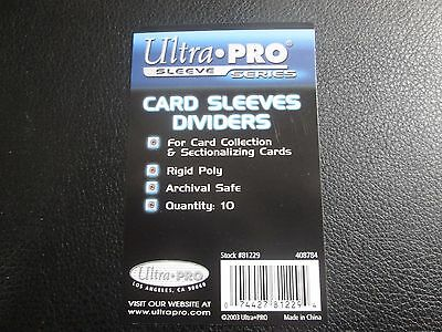 Ultra Pro 10 Pack Card Sleeves Dividers