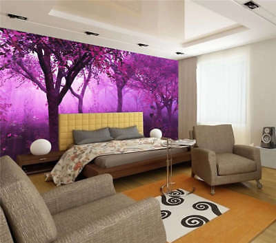 Mysterious Purple Forest Full Wall Mural Photo Wallpaper Print 3D Decor Kid Home