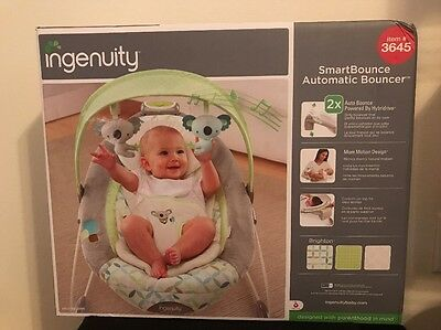 Ingenuity SmartBounce Automatic Brighton Bouncer Brand New In Box