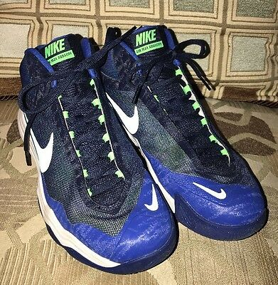 Men's Nike Air Max Audacity Basketball Shoes Blue/Green/Wht 704920-401~Size 9