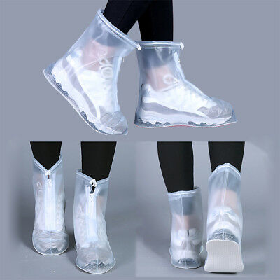 Waterproof Rain Shoes Cover Reusable Boots Flat Overshoes Covers Slip Resistant`