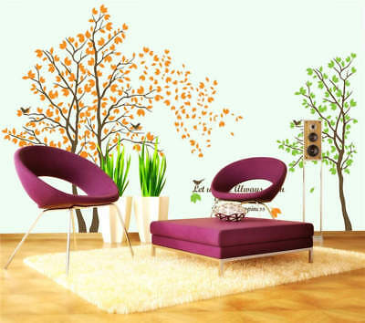 Yellow And Green Trees Full Wall Mural Photo Wallpaper Print 3D Decor Kid Home
