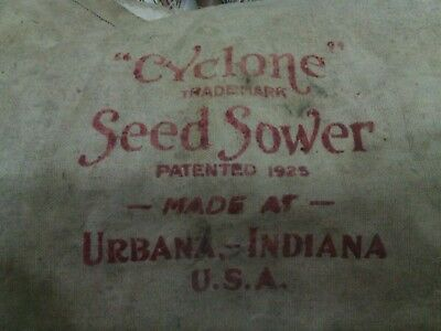 Vintage Grass Seed spreader Cyclone Seed Sower Hand Crank
