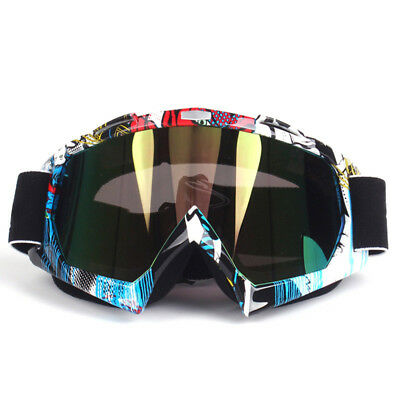 Graffiti Tinted Motocross Motorbike Goggles Anti-fog UV Protection MX Dirt Bike