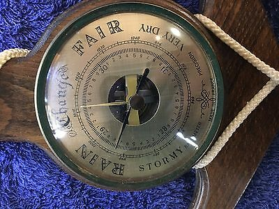Timber & Brass Barometer Thermometer made in France