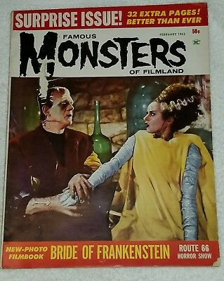 Famous Monsters of Filmland February 1963 Bride of Frankenstein WARREN