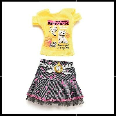 Barbie Doll Clothes - 2 piece set - skirt & top.
