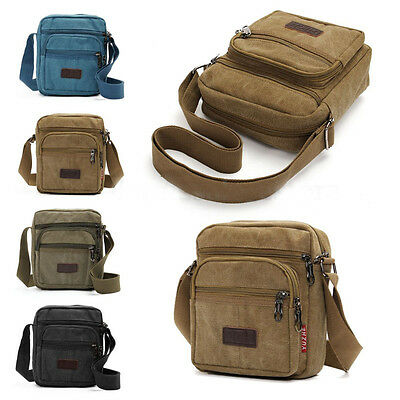 Men Canvas Cross Body Military Messenger Shoulder Side Bag Satchel Casual Travel