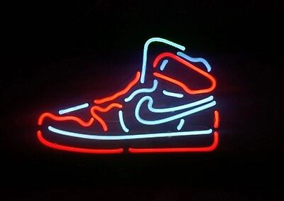 Sneakers Neon Sign Light Sport Store Pub Club Vintage Man Cave Bar Beer