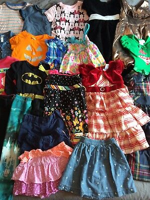 23 Piece Toddler Girl Clothes Lot 4T Back To School