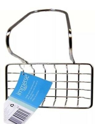 Soap Holder Stainless Steel Hanger Dish Caddy Tray Immerse Bath Laundry New