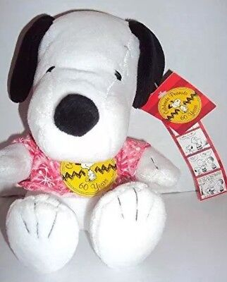 Peanuts Celebrate 60 Years 1970's Decade 6 Sitting Plush Snoopy RARE!!