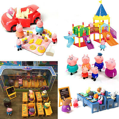 19 Figure PEPPA PIG Famille & articulés Figurines Personnages Amis Kids Toy Gift