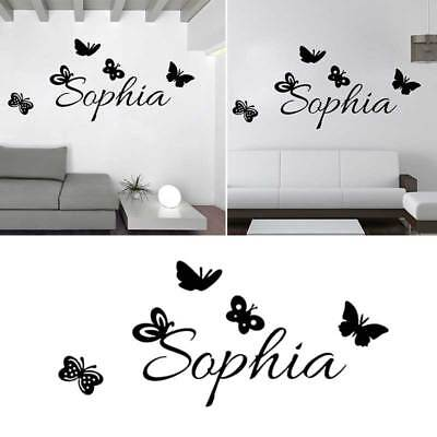 personalized name vinyl art wall sticker kids room