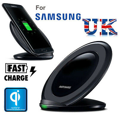 Samsung Galaxy S8 S8 plus S7 Edge S6 Fast Qi Wireless Charger Pad With Stand