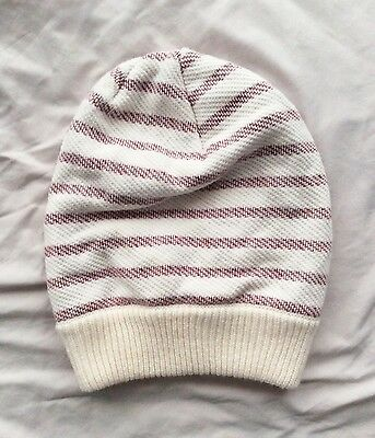 002182a98e0 URBAN OUTFITTERS BDG Slouchy Pink and White Striped Beanie -  6.00 ...