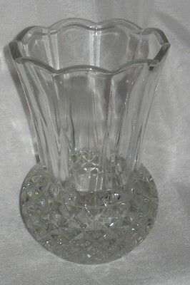 Large Crystal Glass Thistle Vase