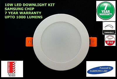 10W LED Downlight Kit SAMSUNG CHIP AUSTRALIAN STANDARDS - DIMMABLE - 7 YEAR WRTY
