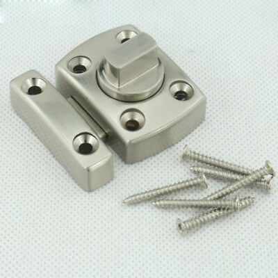 Stainless Steel Door Security Chain Guard Fastener Lock Bolt Safety Home w/Screw