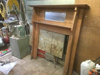 TWO matching edwardian fireplace surrounds