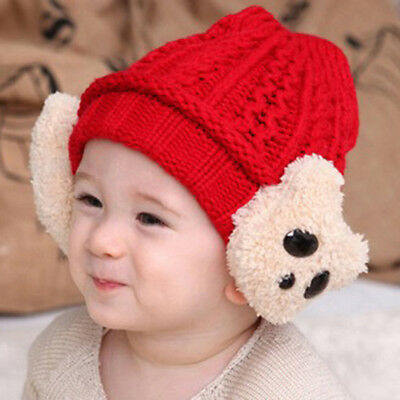 Newborn Girls Boys Kids Beanie Baby Knitted Hat Pom Pom Ball Winter Warm