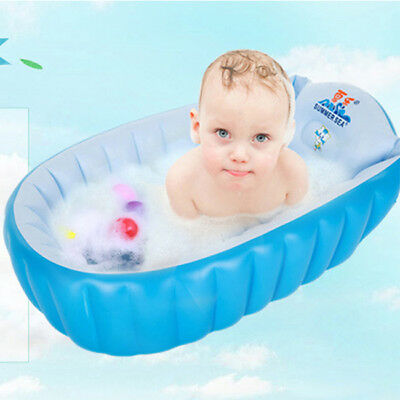 Baby Tub Inflatable Baby Bath Tub Heat Sensor Travel Infant Washing Tub 3632HC
