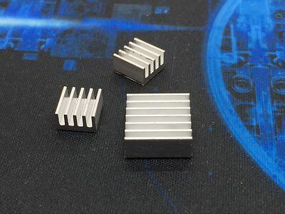NEW 3Pcs Raspberry Pi 2 Aluminium Heatsink Kit Self Adhesive Heat Sink